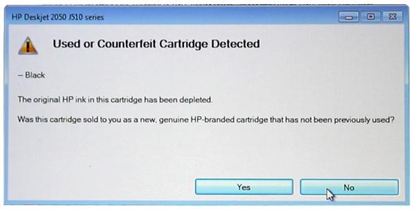 HP and Canon Ink empty Errors Fixed - HP